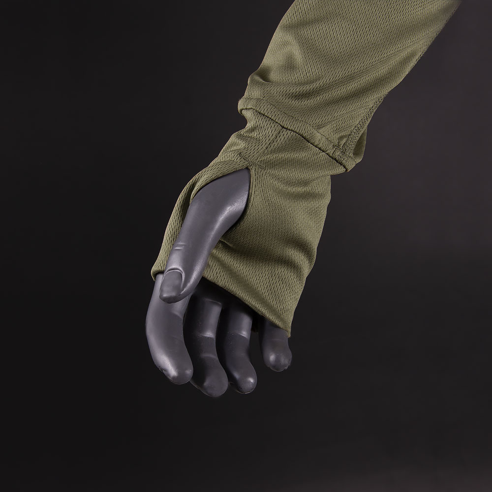 Long sleeve CoolPass Olive-фото2039