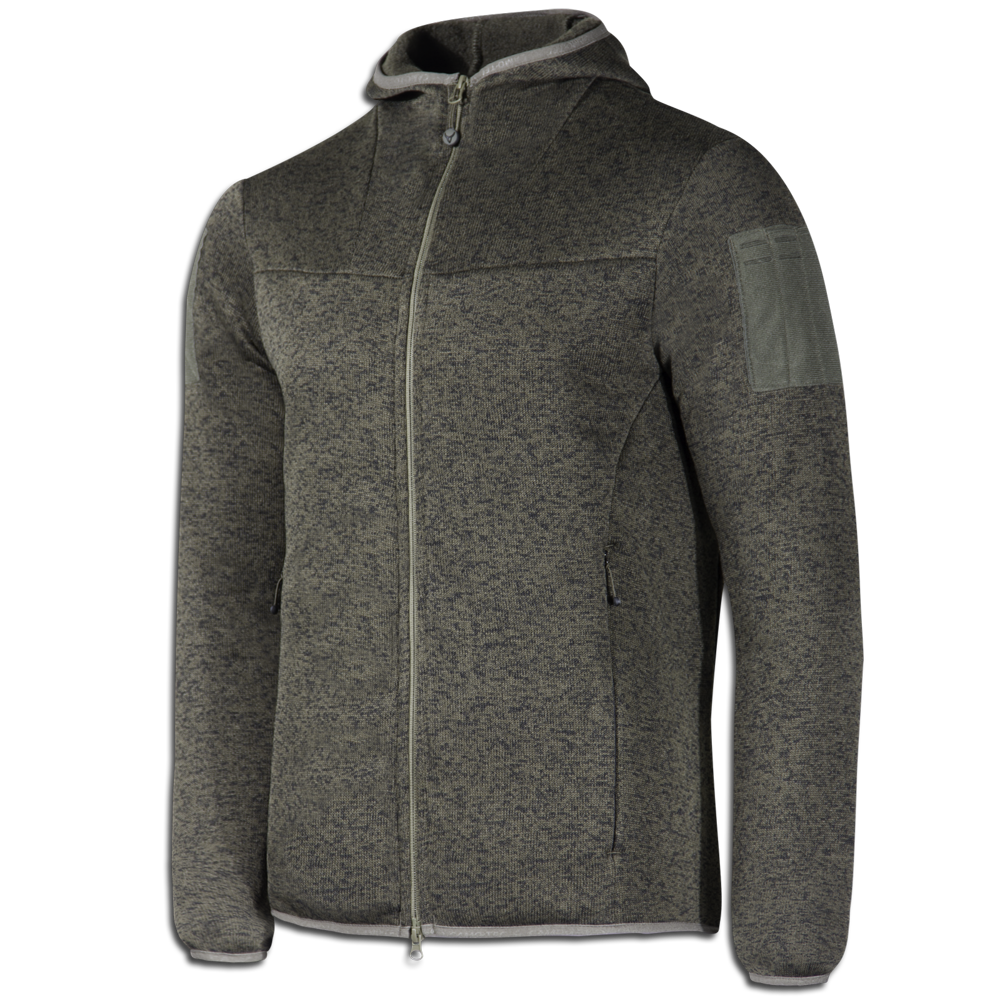 Кофта COMMANDER Hoody Strike Fleece 270 Melange Olive-фото1188